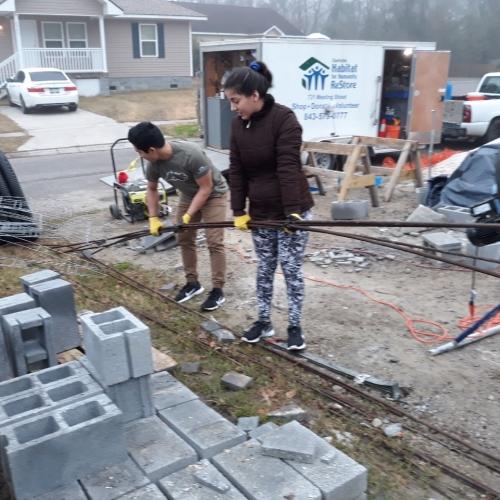 Volunteering with Habitat for Humanity in Charleston